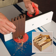 woodworking finger joint jig